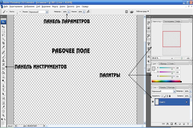 Как сделать рабочую панель в фотошопе